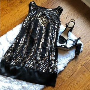 Beautiful sequined cocktail dress